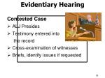 evidentiary hearing