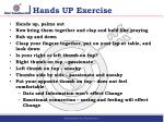 hands up exercise