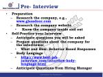 pre interview