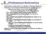 professional reinvention