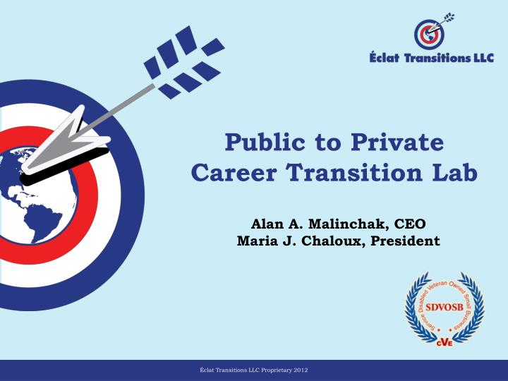 public to private career transition lab n.