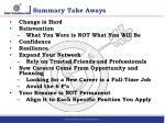summary take aways
