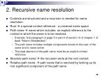 2 recursive name resolution