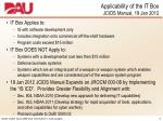 applicability of the it box jcids manual 19 jan 2012