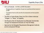 capability drops cds