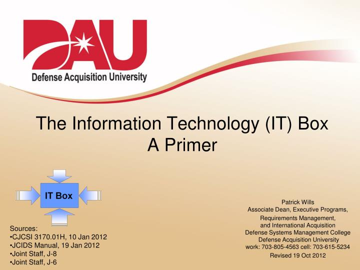 the information technology it box a primer n.
