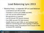 load balancing lync 201312
