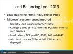 load balancing lync 20132