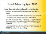 load balancing lync 20133