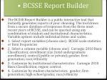bcsse report builder