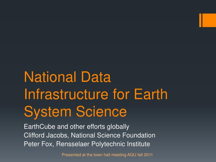 national data infrastructure for earth system science n.