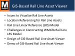 gis based rail line asset viewer