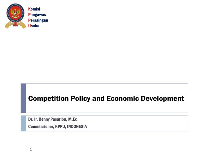 competition policy and economic development n.