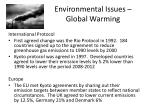 environmental issues global warming