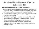 social and ethical issues what can businesses do