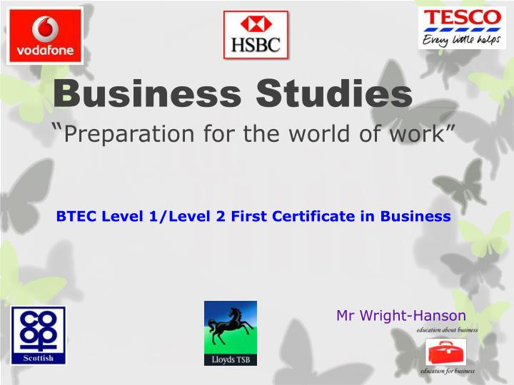 business studies preparation for the world of work n.