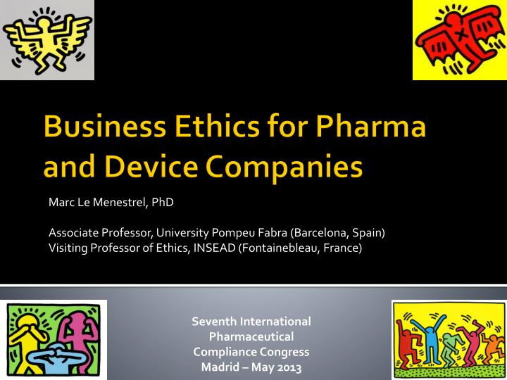 business ethics for pharma and device companies n.