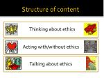 structure of content