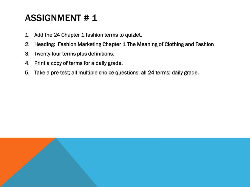 PPT - FASHION MARKETING AND MERCHANDISING PowerPoint