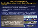 epa working group on satellite observations for air quality management
