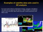 examples of satellite data sets used in ee analysis1