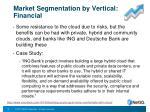 market segmentation by vertical financial