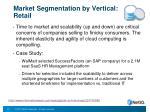 market segmentation by vertical retail