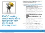 emc consulting consistently earns recognition from clients and industry peers