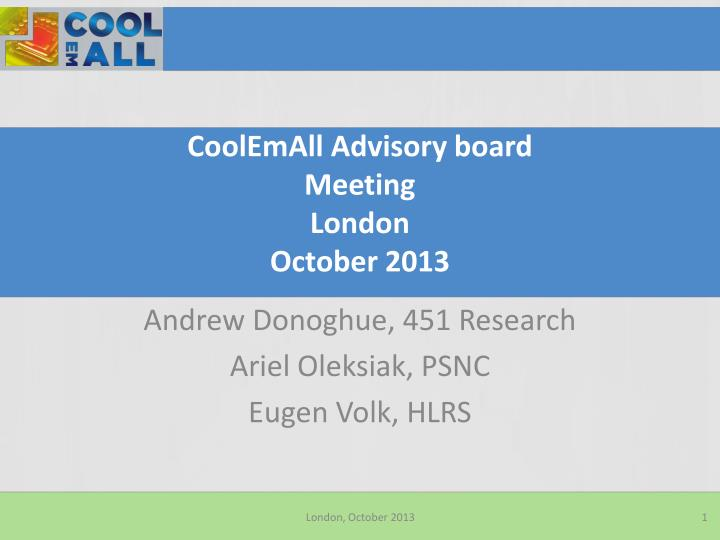 coolemall advisory board meeting london october 2013 n.