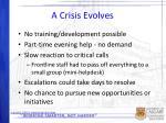 a crisis evolves1