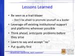 lessons learned1