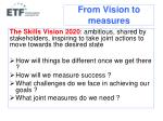 from vision to measures