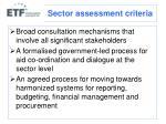 sector assessment criteria1
