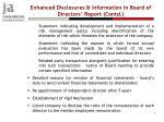 enhanced disclosures information in board of directors report contd