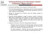 enhanced disclosures information in board of directors report contd1