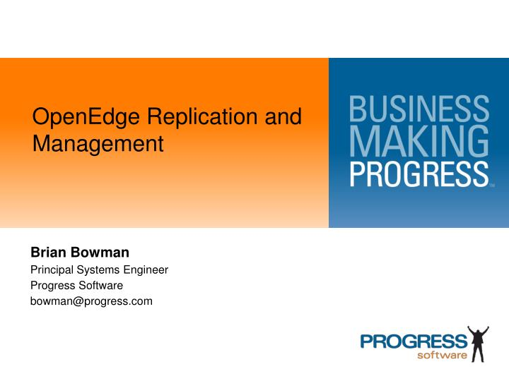 openedge replication and management n.