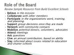 role of the board review sample resource from build excellent schools