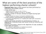 what are some of the best practices of the highest performing charter schools