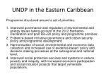 undp in the eastern caribbean