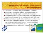 accounting software for churches and christian ministries