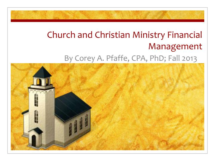 church and christian ministry financial management n.