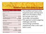 modified cash basis balance sheet