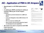 aic application of pbn in uk airspace