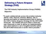 delivering a future airspace strategy fas