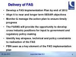 delivery of fas
