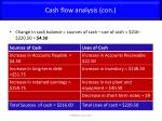 cash flow analysis con1