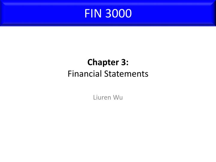 chapter 3 financial statements n.