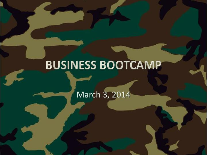 business bootcamp n.
