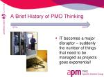 a brief history of pmo thinking2