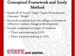 conceptual framework and study method